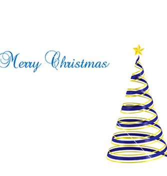 Free christmas tree ribbon vector - Free vector #239177