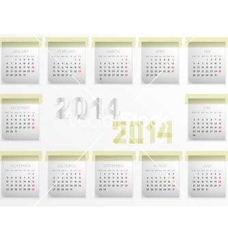 Free calendar for 2014 vector - Free vector #239187