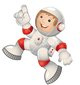 Free child astronaut jumping vector - Kostenloses vector #239217