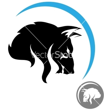 Free stylized wolf head vector - Free vector #239247