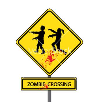 Free zombie crossing vector - Free vector #239257