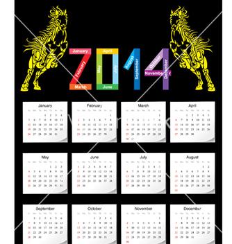 Free calendar 2014 vector - Free vector #239417