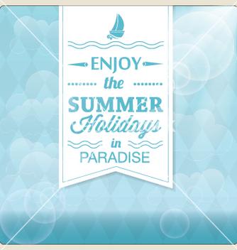 Free summer holiday card design vector - Free vector #239477