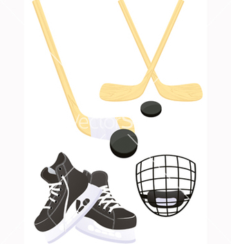 Free hockey objects vector - Free vector #239507