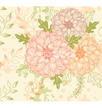 Free seamless floral pattern vector - Free vector #239637