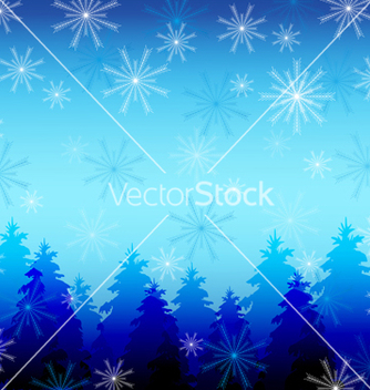 Free winter background with snowflakes vector - vector #239687 gratis