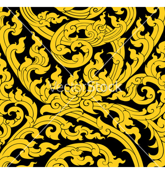 Free thai art tree leaves pattern old style vector - Free vector #239797
