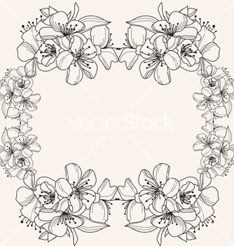 Free floral frame vector - Kostenloses vector #239807