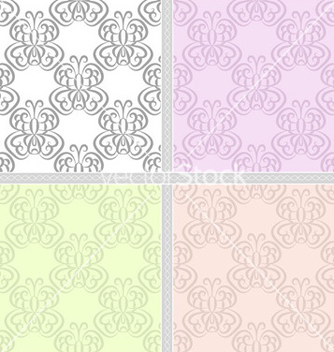 Free summer pastel seamless pattern set vector - Free vector #239857