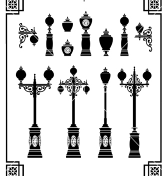 Free street lamps vector - Free vector #239987