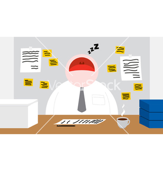 Free a worker sleeping in his office room vector - vector gratuit #239997