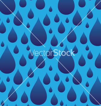 Free seamless rain drops vector - Free vector #240187