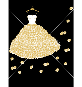 Free wedding dress vector - Free vector #240437