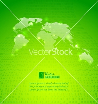 Free abstract binary code background with world map vector - vector gratuit #240457