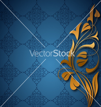 Free ornamental blue background vector - Free vector #240507