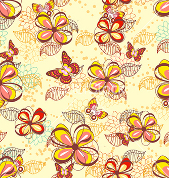Free seamless floral background vector - Free vector #240617