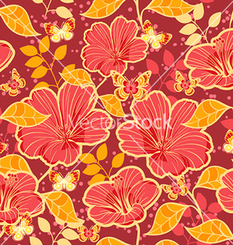 Free seamless floral background vector - Kostenloses vector #240647