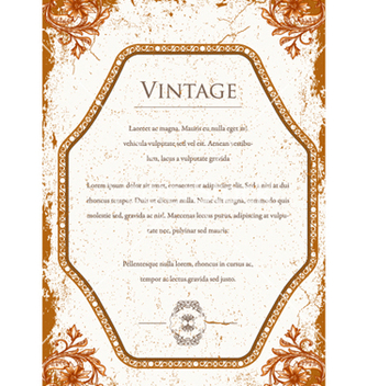 Free vintage floral background vector - Kostenloses vector #240777