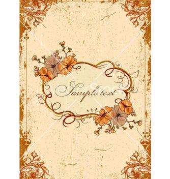 Free vintage floral frame vector - Free vector #240827