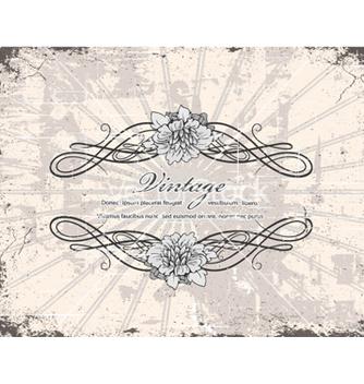 Free vintage floral frame vector - Free vector #240837