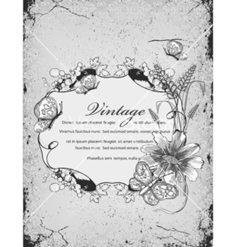 Free vintage floral frame vector - Kostenloses vector #240857