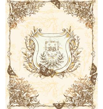 Free vintage floral frame vector - Kostenloses vector #240897