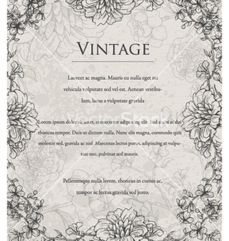 Free vintage floral background vector - Free vector #240977