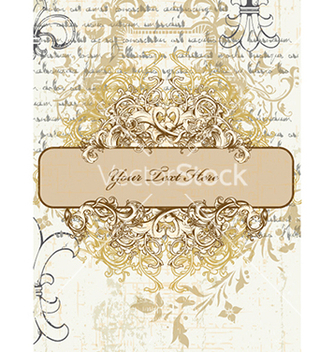 Free vintage frame with floral vector - Kostenloses vector #240997