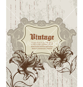 Free grunge floral frame vector - Free vector #241027