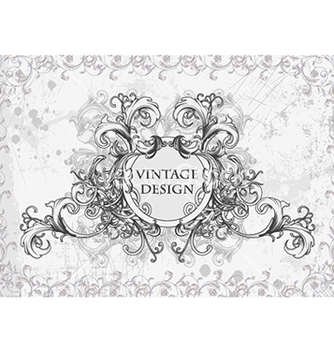 Free vintage floral frame vector - Free vector #241047