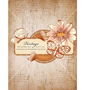 Free vintage floral frame vector - Kostenloses vector #241057