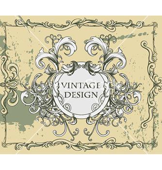 Free vintage floral frame vector - Kostenloses vector #241077