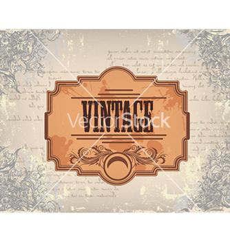 Free vintage floral frame vector - Free vector #241097