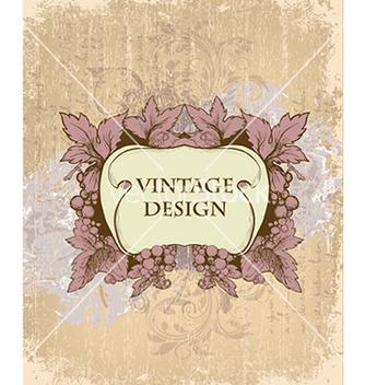 Free vintage floral frame vector - Free vector #241107