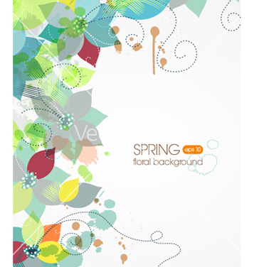 Free floral background vector - Free vector #241357