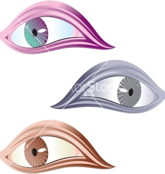 Free symbol of human eye vector - Free vector #242177