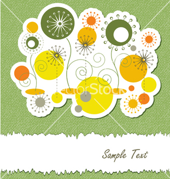 Free summer floral abstract background vector - Free vector #242187
