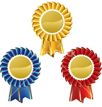 Free award rosette medal set vector - Free vector #242387