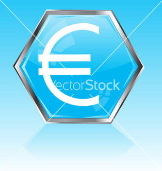 Free button with sign euro vector - vector gratuit #242407