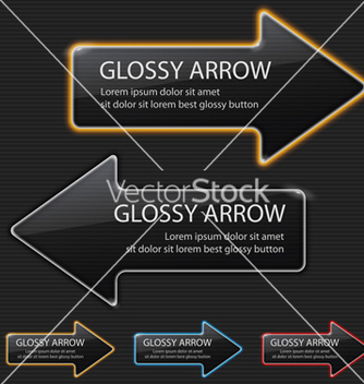 Free glossy arrow on black background vector - Free vector #242427