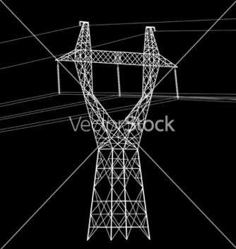 Free high voltage power line vector - Kostenloses vector #242477
