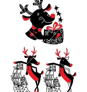 Free xmas reindeer rudolf vector - Free vector #242667