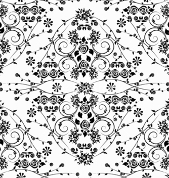 Free damask seamless pattern vector - Free vector #242817
