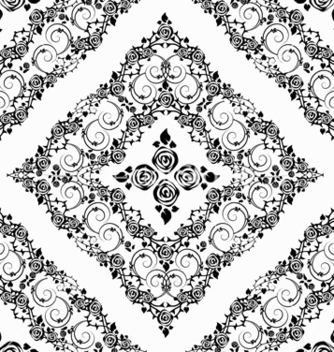 Free damask seamless pattern vector - Free vector #242877