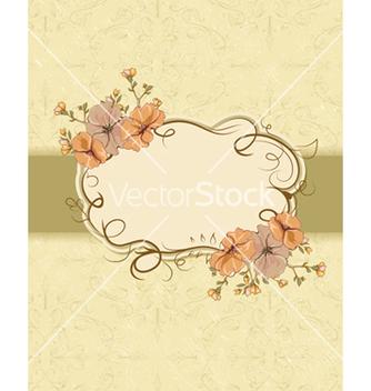 Free vintage floral frame vector - Free vector #242937