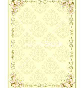 Free invitation with floral vector - Free vector #242967