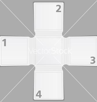 Free blank paper brochure template vector - Kostenloses vector #243067