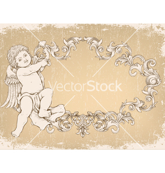 Free angel with frame vector - Free vector #243107