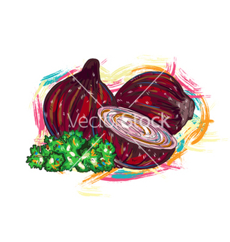 Free vegetables with grunge vector - Free vector #243207