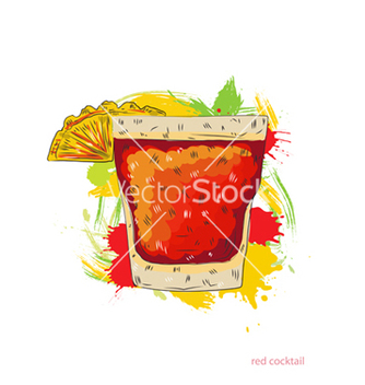 Free red cocktail vector - Free vector #243287
